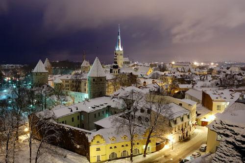 Winter wonderland in steden